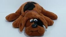 Vintage 1985 Tonka Pound Puppies Brown Dark Spots Plush Puppy Stuffed Animal VGC