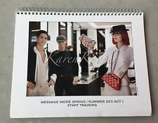 CHANEL SPRING SUMMER 2011 MESSAGE MODE ACT 1 STAFF BOOK BAGS FLAPS CATALOG VIP