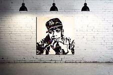 Jay-Z Mr. Brainwash Canvas Print only  24 x 24 Old School Hip Hop Grafitti