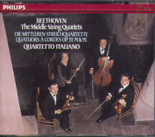 BEETHOVEN The Middle String Quartets - Quartetto Italiano - (3CDs Philips PMDC)