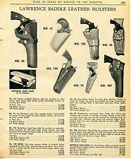 1965 Print Ad of Lawrence Leather Gun Holsters No. 41 Derringer 120 122 55 76 24