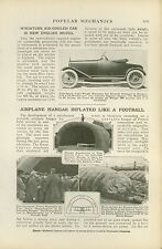 1919 Magazine Article New Inflatable Aircraft Hangar France French Design