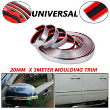 3M Silver 20mm Car RV Chrome DIY Moulding Trim Strip Grille Window Door Bumper