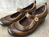 Merrell Plaza Emme Brown Mary Jane Shoes Leather Ortholite Women Size 6