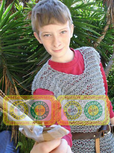 Medieval Chainmail Shirt Xmas New Year Halloween Costume Gift 10-15 years Age