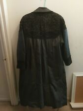 Adrian Jordan Woman's Coat 100% Genuine Leather and Suede Rose Embroidered