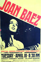 JOAN BAEZ BERKELEY COMMUNITY THEATER 60'S  2ND PRINTING- ORIGINAL SCARCE
