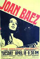 JOAN BAEZ BERKELEY COMMUNITY THEATER 60'S  2ND PRINTING- ORIGINALSCARCE