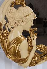 Specchio MURO STILE LIBERTY Busto RILIEVO SECESSIONE ART NOUVEAU TESTA DONNA