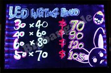 LED Writing Board Business Advertising Sign 30 * 40CM  7 Colours 9 Mode AC Power