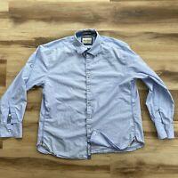 Robert Graham Mens Size XL Tailored Fit Lavender Button Up Long Sleeve Shirt