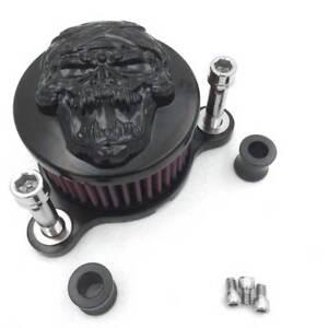 Skull Air Cleaner Intake Filter Kit For Harley Sportster XL883 XL1200 2004-2014