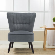 Retro Cocktail Wing Back Occasional Sofa Dining Chair Accent Button Tub Armchair