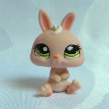 LITTLEST PETSHOP LPS #1094 HASBRO LAPIN NAIN ROSE PALE YEUX VERT