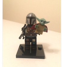 The Mandalorian with Baby Yoda Star Wars Custom Minifigure Lego MOC 2020 Hot