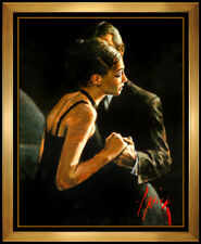 Fabian Perez Embellished Giclee on Canvas The Proposal Signed Female Male Art