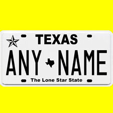 1/43-1/5 scale custom license plate set any brand RC/model car - Texas tags
