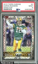 2015 Topps Chrome XFractor Aaron Rodgers Green Bay Packers PSA 9 MINT