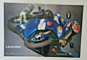 Vintage 1999 Poster Advertisement Yamaha R1 Blue