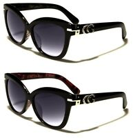 Free Pouch High Quality Womens Round Lens Cat Eye Vintage Fashion CG Sunglasses