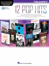 """12 POP HITS"" INSTRUMENTAL PLAY-ALONG FOR TRUMPET-MUSIC BOOK/AUDIO ACCESS-NEW!!"