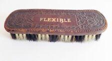 Vintage Shoe Shine Brush Flexible Horse Hair Embossed Leather 1920s Antique
