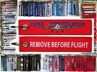 Keyring Lockheed L-1049 Super Constellation Remove Before Flight tag keychain