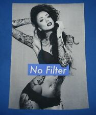 No Filter - sexy tattooed girl t-shirt - size L - large - pinup