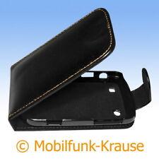 Flip Case étui pochette pour téléphone portable sac housse F. Blackberry Bold 9900 (Noir)