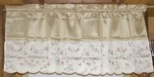 Better Homes & Garden Floral Cafe Curtain Tier & Valance Set ~ Gold Pink Green