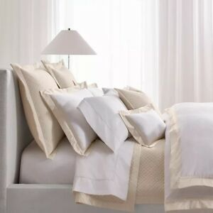 Ralph Lauren King Size  Duvet Cover Bowery Hollywood Cream Pima Cotton MSRP $470