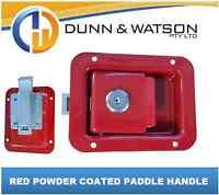 Red Paddle Handle Powdercoated x1 Camper Trailer, Caravan Toolbox