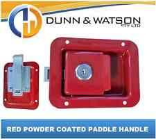 Red Paddle Handle Powdercoated x1 Camper Trailer, Caravan Toolbox