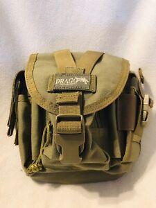 "Drago Gear Tactical Patrol Pack Belt Bag Reinforced Webbing - Tan - ""New Used"""