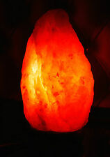 New Natural Himalayan Rock Salt Lamp 2-3kg On Wooden Base (Plug & Bulb Included)