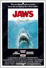 """JAWS Movie Poster on a 8"""" x 12"""" Aluminum Sign Made in the USA by US Vets"""
