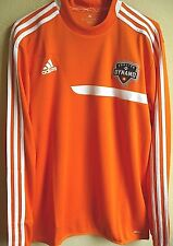 MLS Adidas Houston Dynamo Soccer Long Sleeve Mock Training Pullover M NWT 3726A