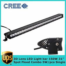 "1X31""inch 150W 3D Optical Slim Single Row CREE LED Light Bar Car ATV SUV RZR 30"""