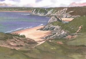 Pobbles Bay, Gower, Swansea - Greetings Card - Tony Paultyn