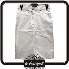 DIANA FERRARI White Jeans  Denim Skirt Size 8 (A25)