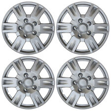 "4 Piece Set SILVER /LACQUER Hub Caps FITS 16"" Inch Wheel Cover Skin Covers Cap"