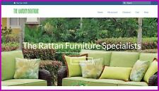 RATTAN FURNITURE Website -  £533.52 A SALE|FREE Domain|FREE Hosting|FREE Traffic
