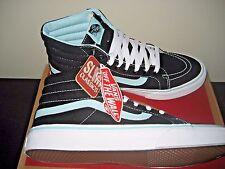 Vans Sk8-Hi Slim Pop Womens Black Blue Tint Canvas Skate Shoes Size 8.5 NWT