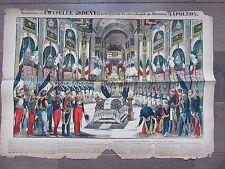 GRANDE IMAGE EPINAL 1880 CHAPELLE ARDENTE MORT DE L'EMPEREUR NAPOLEON