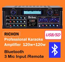 New Arrival RICHON Professional Karaoke Amplifier Bluetooth RMS Power 120W+120W