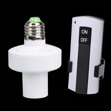 Wireless 10M Remote Control E27 Screw Light Lamp Holder Cap Socket Switch Set