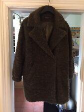 Topshop Women's Slouchy Mohair Boyfriend Coat In Olive