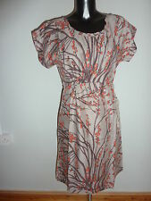 WHITE STUFF brown red dress - NEW Size 18 (141)