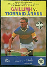 1987 GAA GALWAY v TIPPERARY All Ireland Hurling S-Final Programme