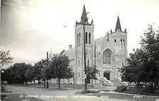 c1940 Real Photo PC; St Joseph's Catholic Church, Iron Mountain MI Dickinson Co.